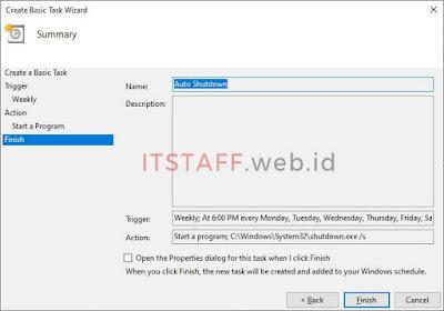 Finish Create Basic Task Wizard - ITSTAFF.web.id