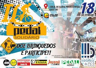 Biblioteca do CES realiza II Pedal Solidário em Cuité