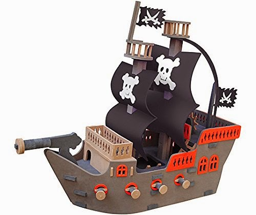 barco pirata infantil de goma eva