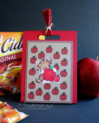 Apple Cider Packet by Crafty Math Chick | Newton Loves New York stamp set and dies by Newton's Nook Designs