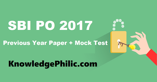 Download SBI PO Previous Years Question Papers and Mock Test Paper in PDF