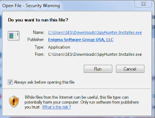 contoh The publisher has been blocked from running software pada program antivirus