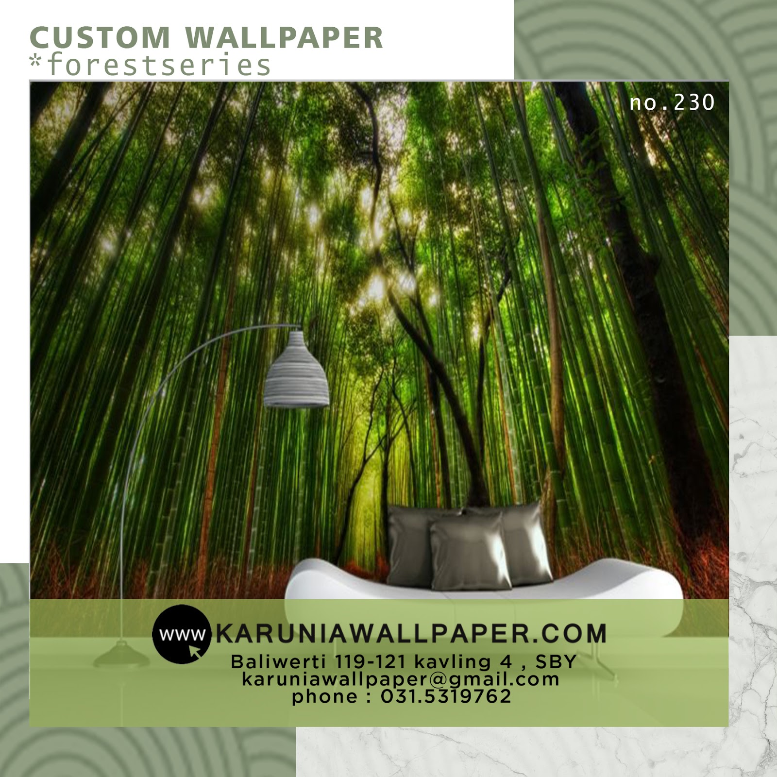 jual wallpaper custom bambu