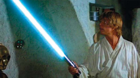 Luke Skywalker's Blue Lightsaber