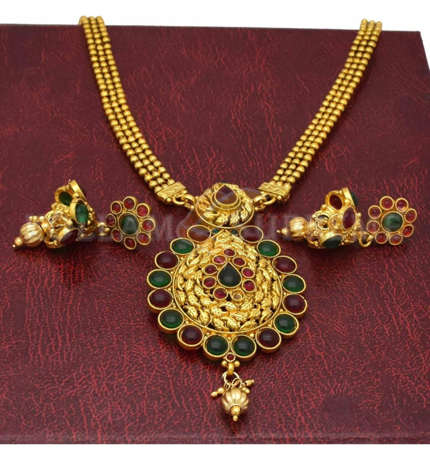 c5bc983e0dfb1 Kollam Supreme Premium Fashion Jewellery: Buy Antique Kemp Triple ...