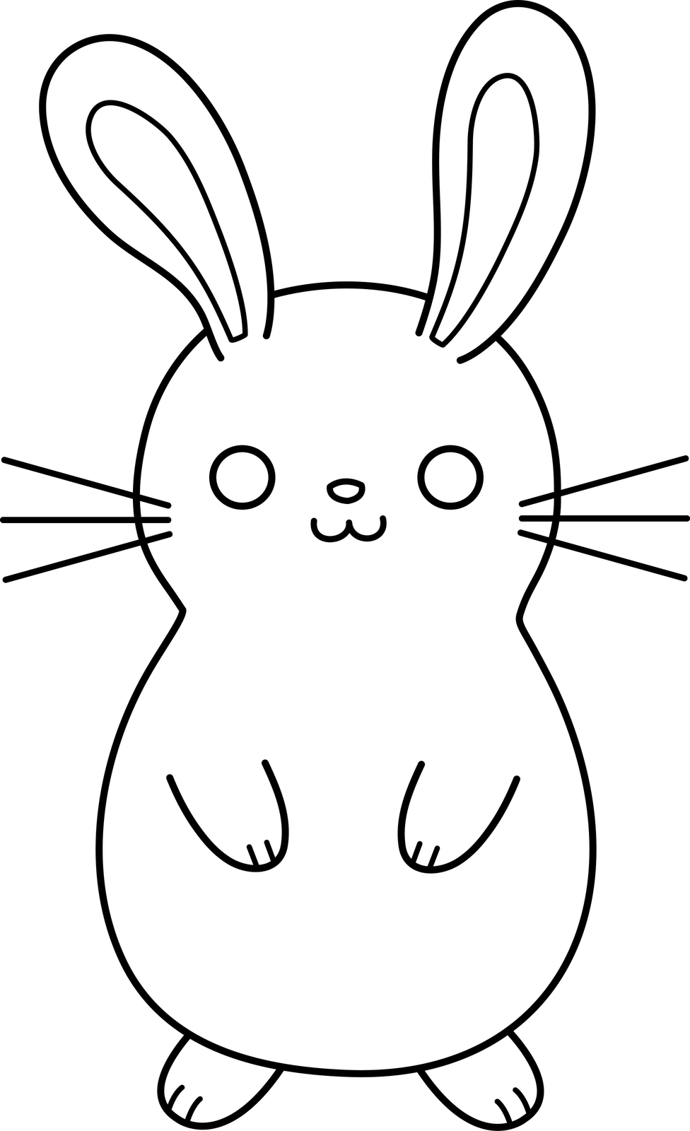 Cute Baby Bunny Drawing | Free download on ClipArtMag |Cute Rabbit Clipart Black And White