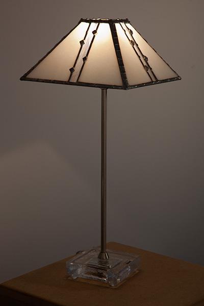 Pyramide Bianca - lampe de table
