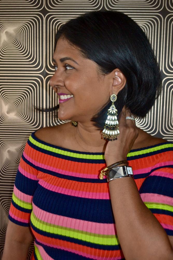 7 Charming Sisters chandelier earrings