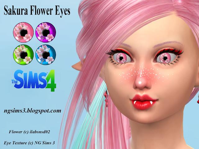 NG Sims 3 Sakura Flower Eyes  TS4 Eyes