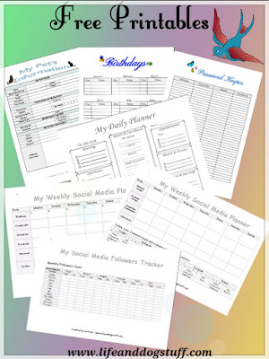 free organizing printables | organizing worksheets
