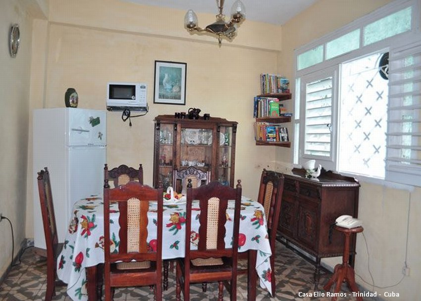 Casa Hostal Elio Ramos Lower Dining room Trinidad -  Cuba
