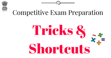Competitive Exam Preparation - Tricks & Sortcuts