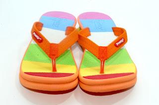 sandal pelangi, jual sandal wanita, sandal pelangi grosir