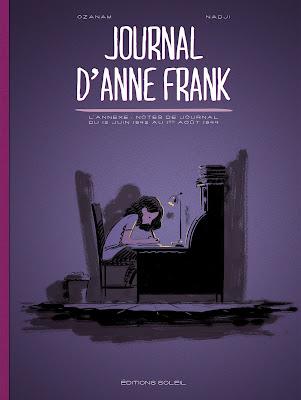 Couverture du journal d'anne Frank adapté par Oznam et Nadji chez Soleil