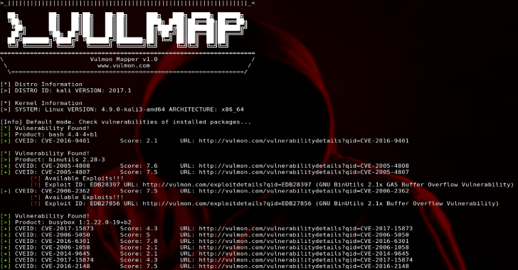 Vulmap :Online Local Vulnerability Scanners Project