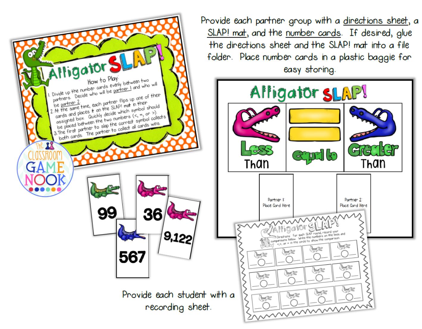 Simply Centers Do The Alligator Slap Math Center For