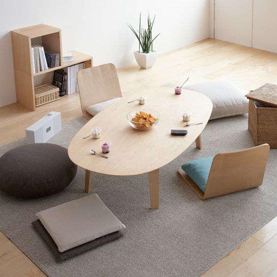 Desain Ruang Tamu Lesehan Minimalis Sederhana