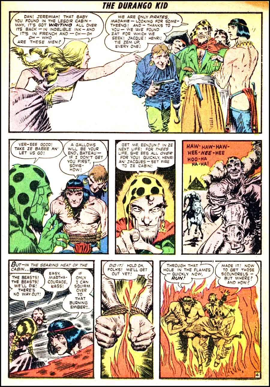 Frank Frazetta 1950s golden age western comic book page / Durango Kid #6