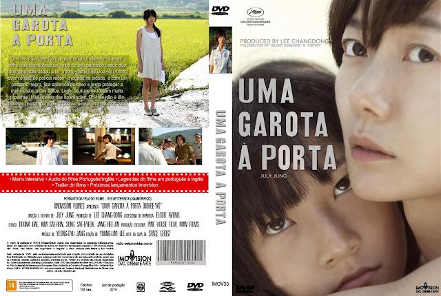 Capa DVD Uma Garota Á Porta