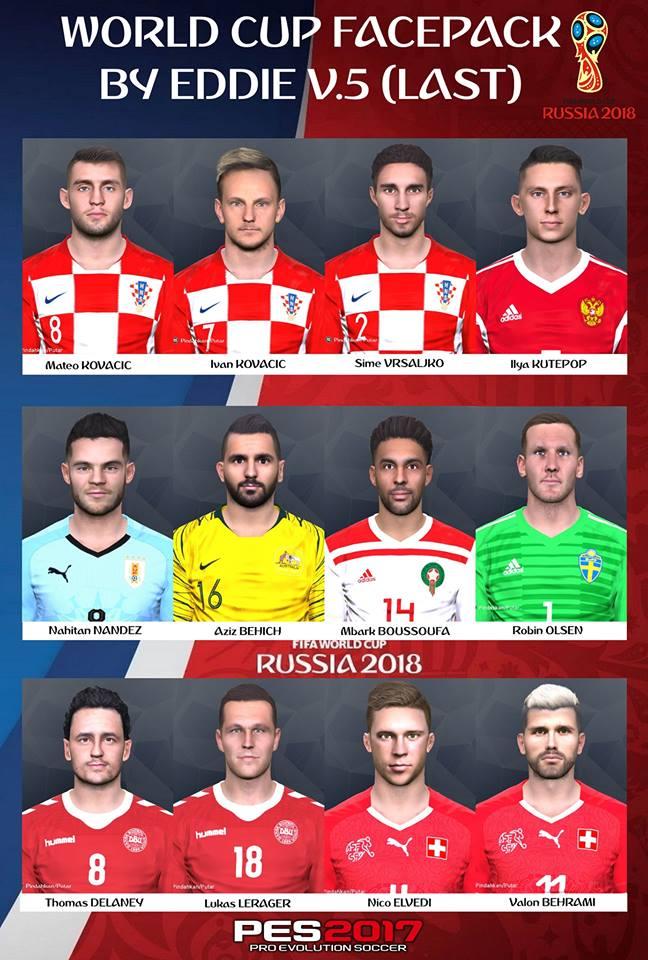 PES 2017 worldcup facepack v.5