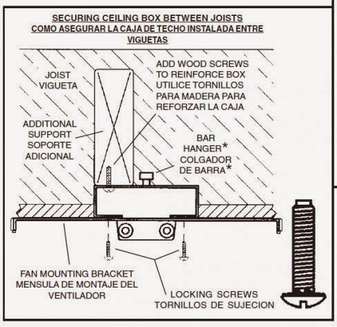 Electric Work: Ceiling fan support