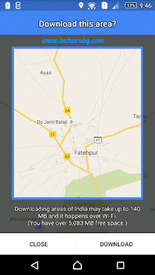 android offline google maps