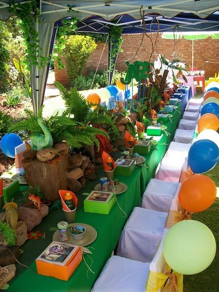 Decoraci n de fiestas infantiles de dino dan fiestas y for Decoracion para todo