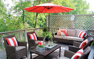 admirable pottery barn  patio design mixed with orange parasol plus rectanglecoffee table and wicker furnitures