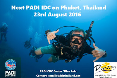 Next PADI IDC on Phuket, Thailand starts 23rd August 2016