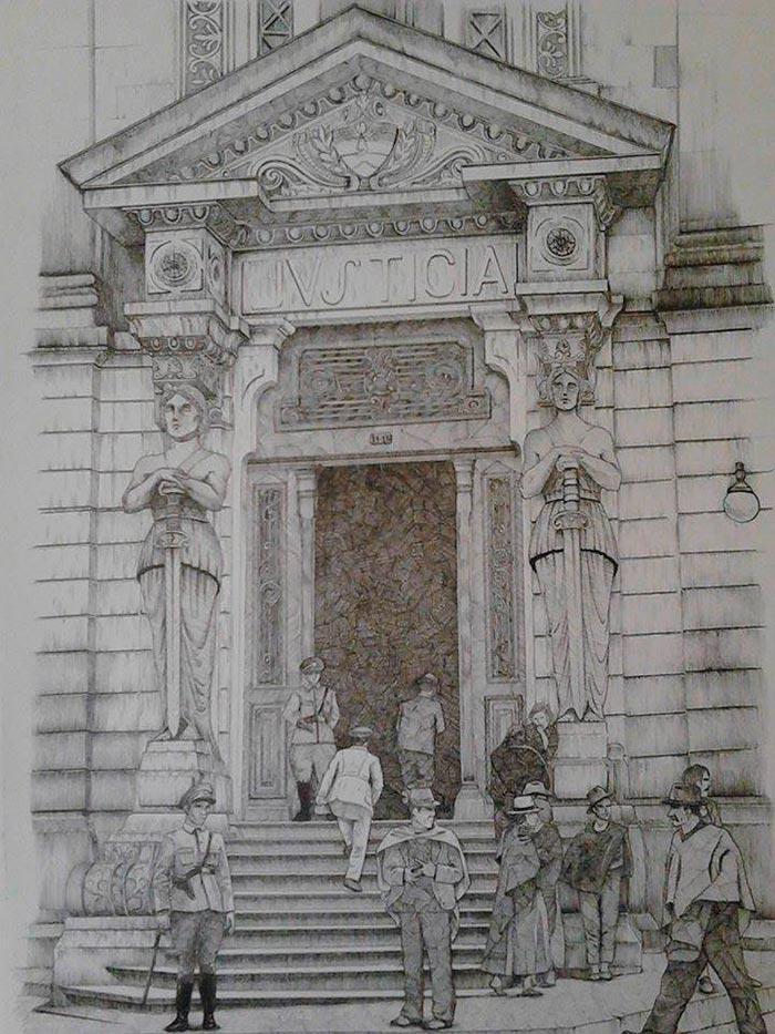 Ilustración, Palacio de justicia de Camilo Andrés Torres