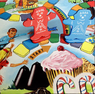 candyland board game painting