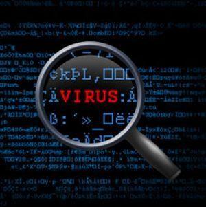 gambar ilustrasi scan virus komputer