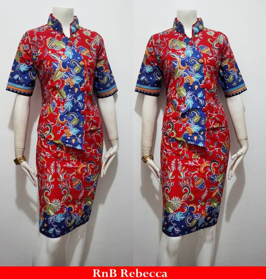 Batik Bagoes Solo Model Dress Batik Rebecca