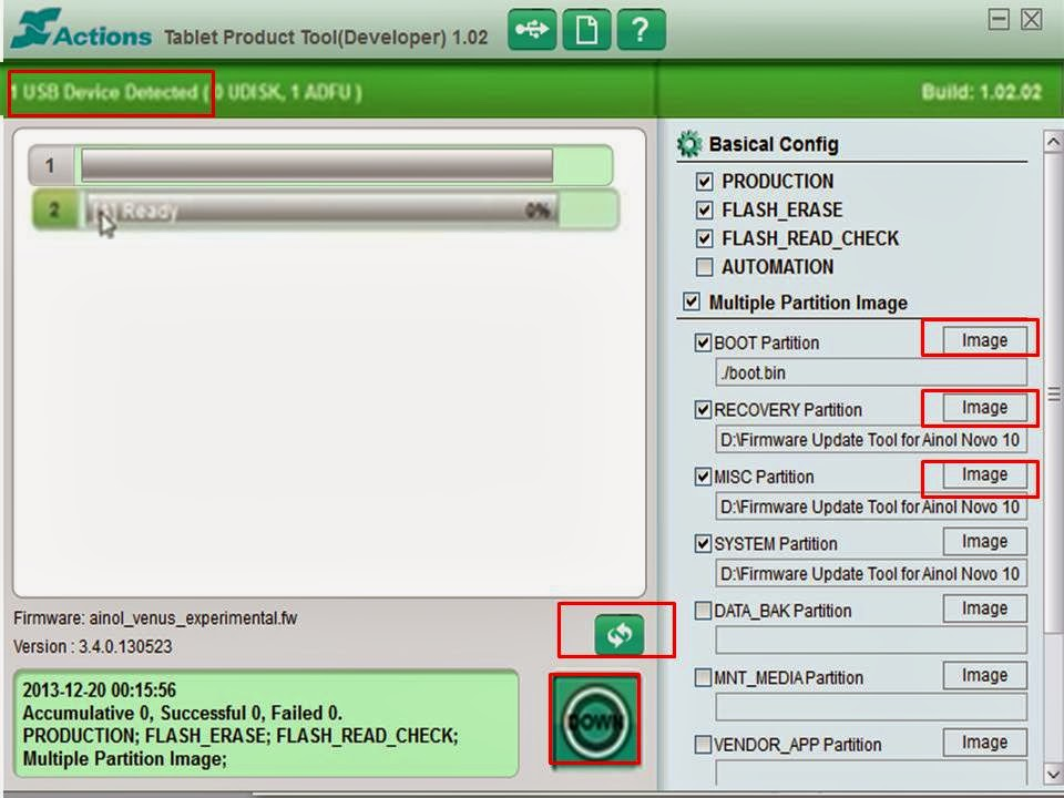Tablet Firmware Update Tool