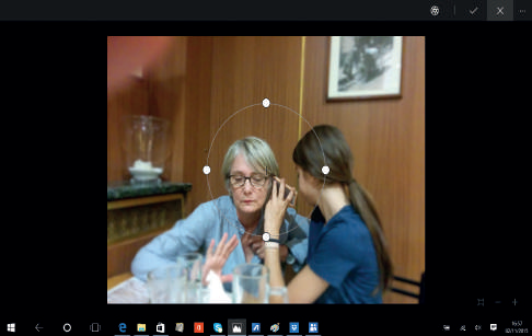 come sfocare sfondo con all foto windows 10
