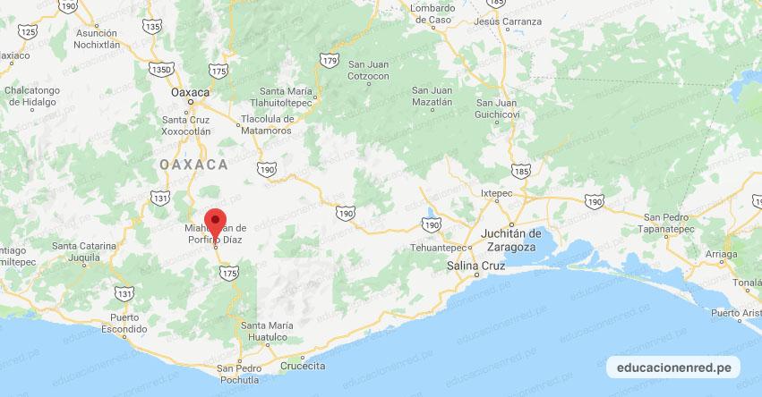 Temblor en México de Magnitud 4.1 (Hoy Jueves 27 Agosto 2020) Sismo - Epicentro - Miahuatlán - Oaxaca - OAX. - SSN - www.ssn.unam.mx