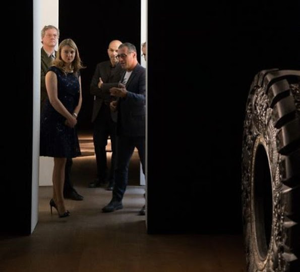 Crown Princess Stephanie and Prince Guillaume of Luxembourg attend the opening of the Vim Delvoye exhibition at Mudam. Style, summer dress, beach dress