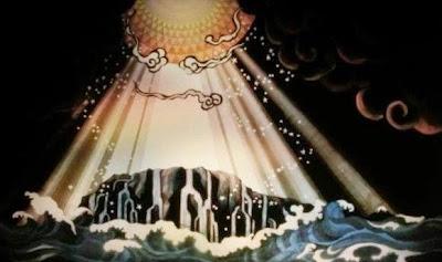 江の島灯籠〜天女と五頭龍〜