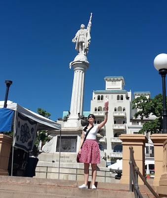 Posing like statues