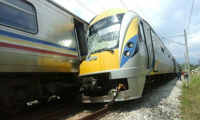 [6 Gambar] Kemalangan Tren ETS & Tren Ekspres Antarabandar #KTMB