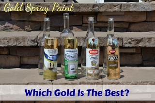 Gold spray paint dilemna