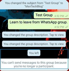 Cara Meninggalkan Grup Chatting/Obrolan WhatsApp Secara Permanen,Ini Caranya 5