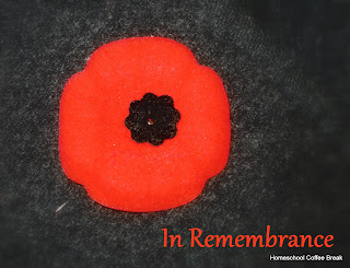 Homeschool Highlights - Week Ten: Remembrance Day on Homeschool Coffee Break @ kympossibleblog.blogspot.com