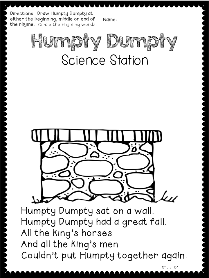 Humpty Dumpty Science Station • Teach123