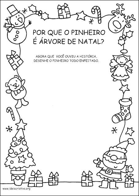 Atividade Conto Por que o Pinheiro é Árvore de Natal?