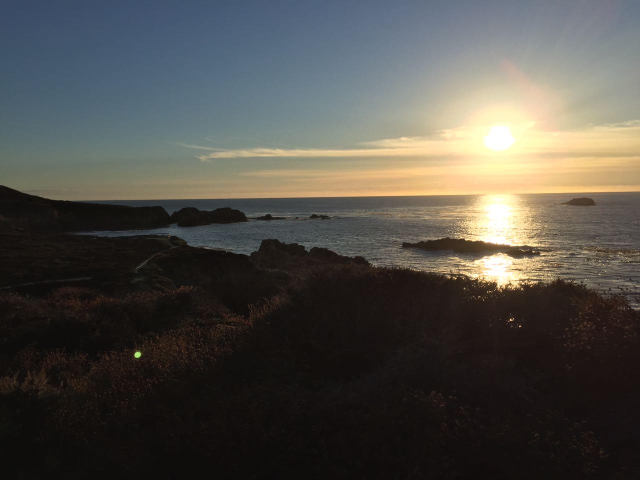 Por do Sol na Praia da Garrapata State Park - Big Sur
