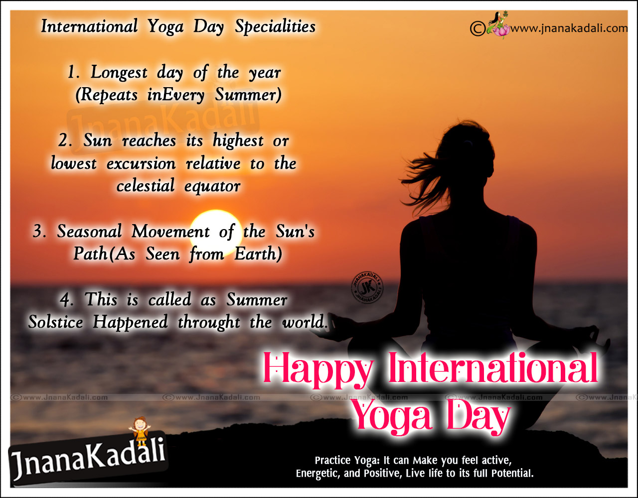 International Yoga Day Best Quotations And Status Jnana Kadali