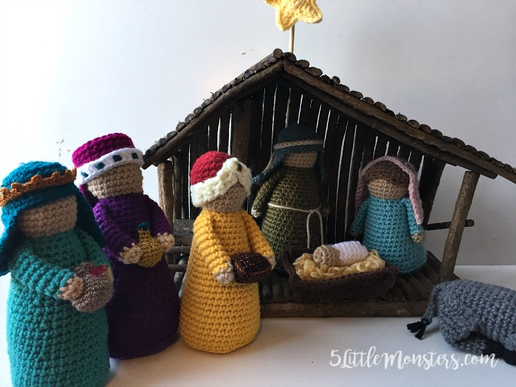 5 Little Monsters Three Wise Men Crochet Nativity Add On