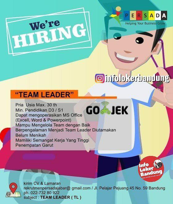 Lowongan Kerja Team Leader Gojek Persada Jabar April 2019