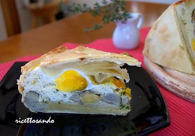 Torta pasqualina ricotta e carciofi ricetta tradizionale ligure